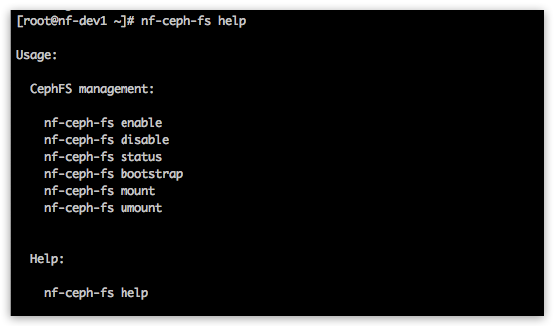 nf-ceph-fs help command