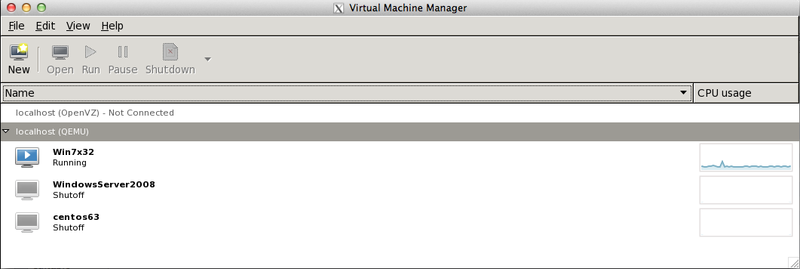 KVM VM management with virt-manager GUI